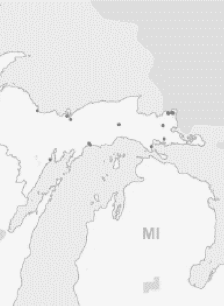 Map showing Sault Ste. Marie's reservation
